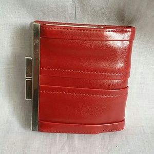 Handbags - Wallet Burgundy 3.5x4